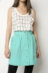 High-waisted skirt by Kimichi & Blue at Urban, $54